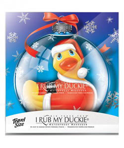 I Rub My Duckie Holiday Ornament Santa ~ BT-RT10160