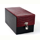 Devine Toybox Red Faux Crocodile ~ EN-9848