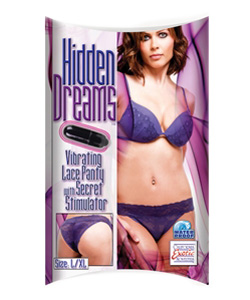 Hidden Dreams Vibrating Lace Panty Large Extra Larg ~ SE4027-40